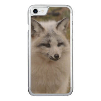 Adorable White Fox Carved iPhone 7 Case
