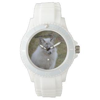 Adorable White Fox Wristwatch