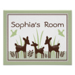 Adorable Willow Deer Family Poster/Print