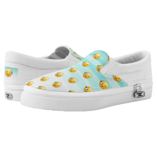 Adorable Winking Smiley Emoji Face Slip On Shoes