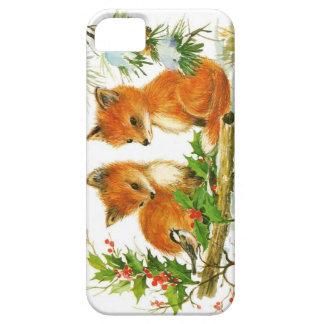 Adorable Winter Baby Fox iPhone 5 Case