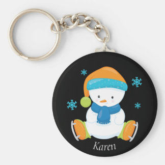 Adorable Winter Theme Snow Baby Snowman Key Ring