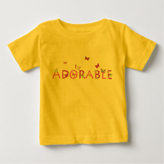 Adorable with butterflies and flowers baby T-Shirt