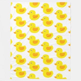 Adorable Yellow Rubber Ducks Duckies Fleece Blanket
