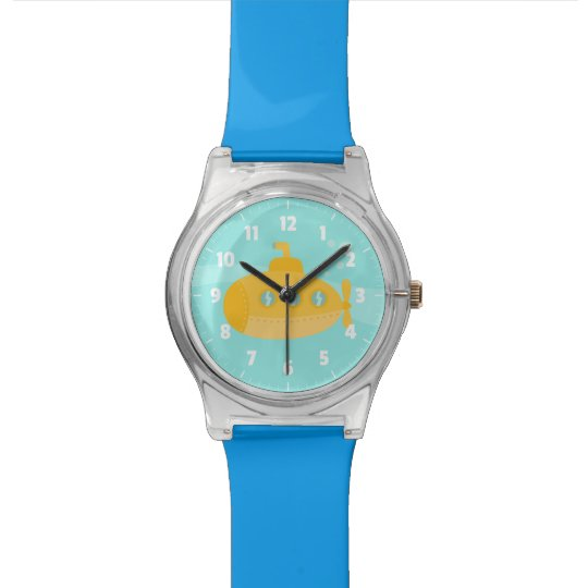Adorable Yellow Submarine with bubbles for kids Watch