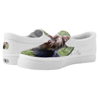 Adorable Yorkie Mia Zipz Slip-On Shoes US-Women