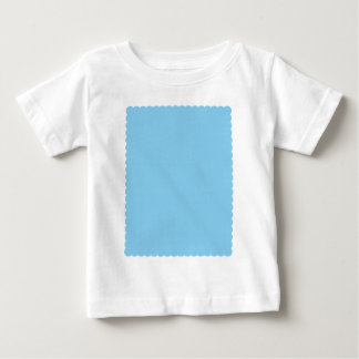 Adorably Cuddly Blue Color Scalloped Edge Baby T-Shirt