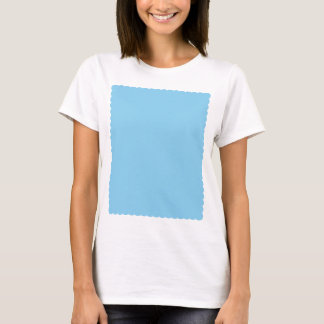 Adorably Cuddly Blue Color Scalloped Edge T-Shirt