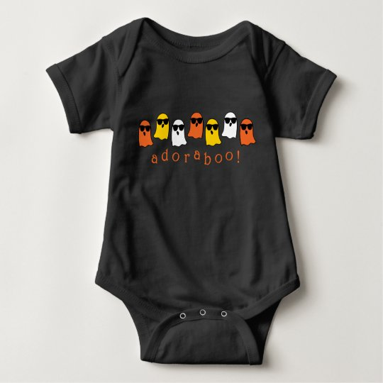 Adoraboo! Halloween Ghosts Baby Bodysuit