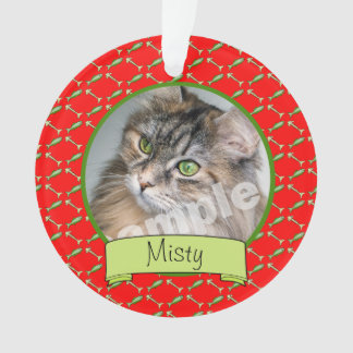 Adoranle Kitty Cat Photo and Name Ornament
