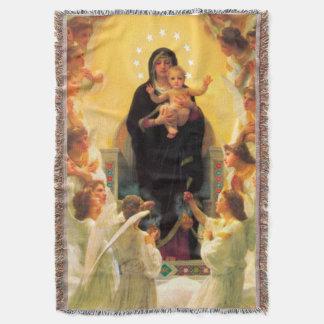 Adoration Blanket Jesus & Virgin Mary & Angels
