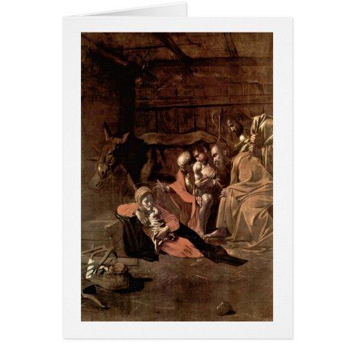 Adoration By Michelangelo Merisi Da Caravaggio Greeting Card