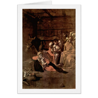 Adoration By Michelangelo Merisi Da Caravaggio Greeting Card