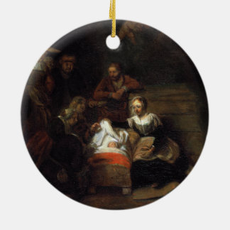 Adoration by the Shepherds by Samuel Hoogstraten Christmas Tree Ornament