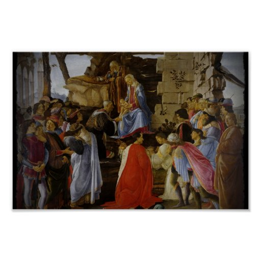 Adoration of Magi by Botticelli Print