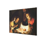 Adoration of the baby, c.1620 gallery wrapped canvas
