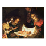 Adoration of the baby, c.1620 postcard
