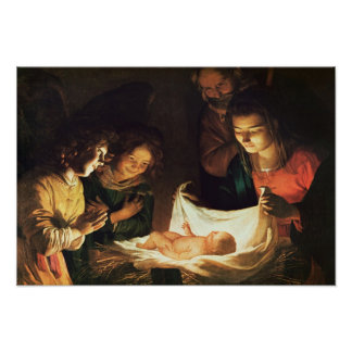 Adoration of the baby, c.1620 poster