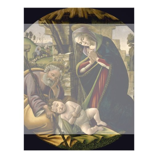 Adoration of the Christ Child by Botticelli Custom Flyer