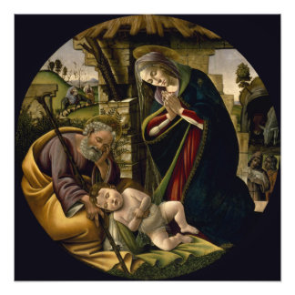 Adoration of the Christ Child by Botticelli Photographic Print