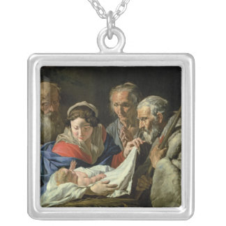 Adoration of the Infant Jesus Silver Plated Necklace