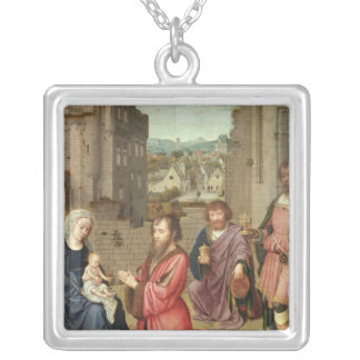 Adoration of the Kings, 1515 Silver Plated Necklace