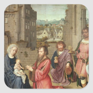 Adoration of the Kings, 1515 Square Sticker