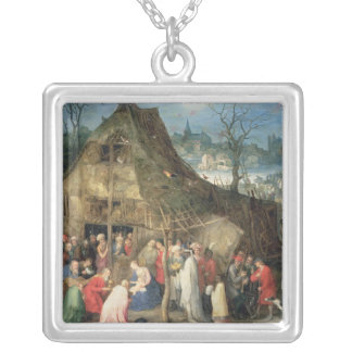 Adoration of the Magi, 1598 Silver Plated Necklace
