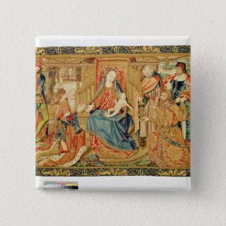 Adoration of the Magi, 15th-16th century 15 Cm Square Badge