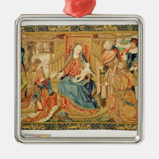 Adoration of the Magi, 15th-16th century Silver-Colored Square Decoration