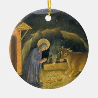 Adoration of the Magi Altarpiece; left hand predel Round Ceramic Decoration