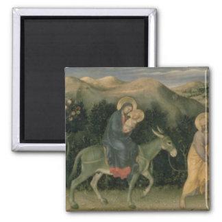 Adoration of the Magi Altarpiece Square Magnet