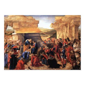 Adoration of the Magi - Botticelli 13 Cm X 18 Cm Invitation Card
