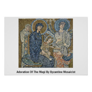 Adoration Of The Magi By Byzantine Mosaicist Poster
