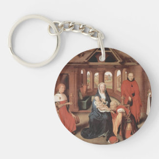 Adoration of the Magi by Hans Memling Keychain