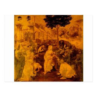 Adoration of the Magi by Leonardo Da Vinci Postcard