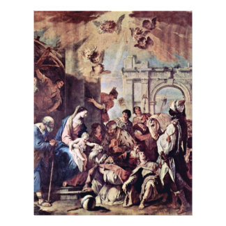 Adoration Of The Magi By Ricci Sebastiano Full Color Flyer