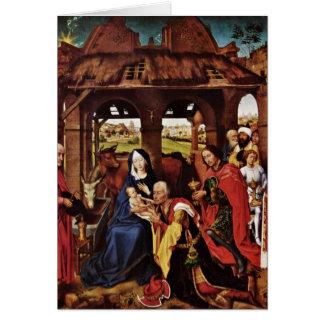 Adoration Of The Magi By Rogier Van Der Weyden Greeting Card