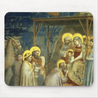 Adoration of the Magi, c.1305 Mouse Mat