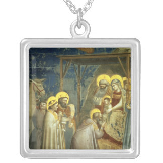 Adoration of the Magi, c.1305 Silver Plated Necklace