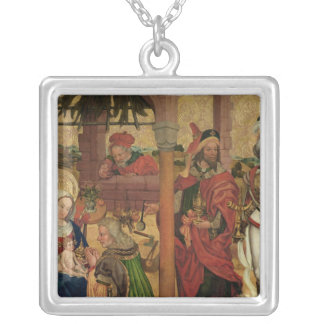 Adoration of the Magi, c.1475 Silver Plated Necklace