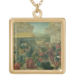Adoration of the Magi, c.1480 (tempera on panel) ( Gold Plated Necklace