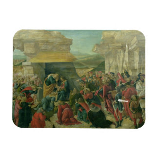 Adoration of the Magi, c.1480 (tempera on panel) ( Rectangular Photo Magnet