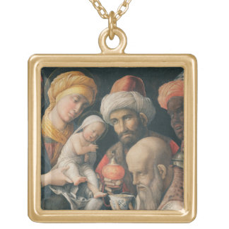 Adoration of the Magi, c.1495-1505 Gold Plated Necklace