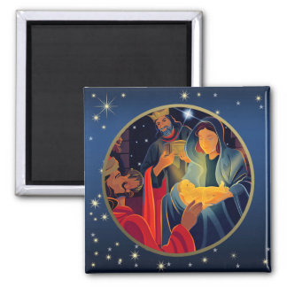 Adoration of the Magi. Christmas Gift Magnets