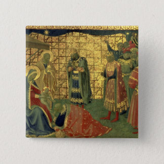 Adoration of the Magi, detail from a predella pane 15 Cm Square Badge