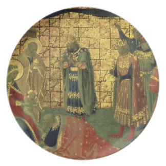 Adoration of the Magi, detail from a predella pane Plate