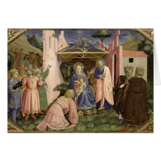 Adoration of the Magi, from the predella Card