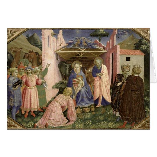 Adoration of the Magi, from the predella Card