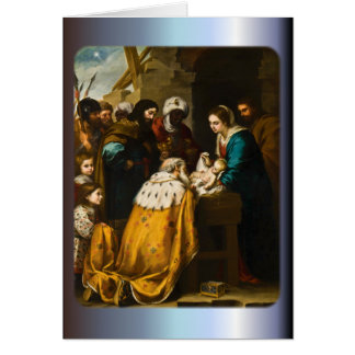 Adoration of the Magi - Murillo Greeting Card